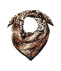 Vince Camuto Square Skins Classic Scarves White