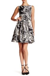 Taylor Shantung Fit And Flare Dress Black