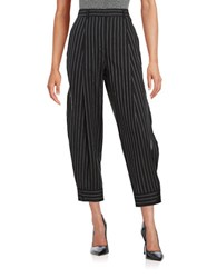 Dkny Pinstriped Capri Pants Black