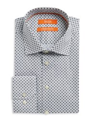 Tallia Orange Medallion Print Dress Shirt Black