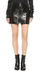 Vera Wang Miniskirt With Front Zipper Black