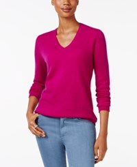 Charter Club Cashmere V Neck Sweater Only At Macy's 18 Colors Available Bright Cerise