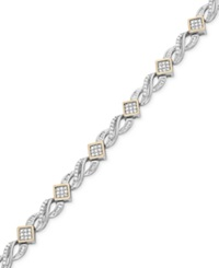 Wrapped In Love Diamond Infinity Bracelet 1 Ct. T.W. In 14K Gold And Sterling Silver No Color