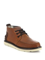 Toms Waterproof Leather Lace Up Shoes Brown
