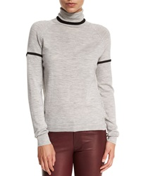 J Brand Betty Turtleneck Long Sleeve Sweater Light Heather Gray