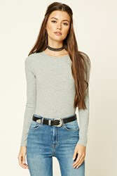 Forever 21 Scoop Neck Bodysuit