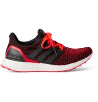 Adidas Sport Ultra Boost Rubber Trimmed Primeknit Sneakers Crimson