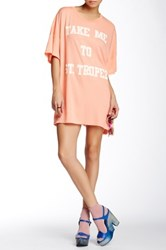 Wildfox Couture St. Tropez Barefoot Tee Dress Red