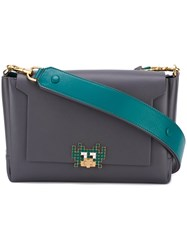Anya Hindmarch Contrast Strap Shoulder Bag Grey