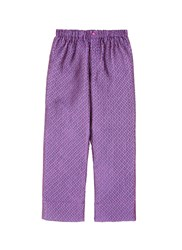 Love Stories 'Reese' Diamond Jacquard Pyjama Pants Purple Multi Colour
