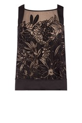 Coast Pallavi Burnout Top Black