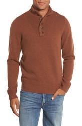 Men's Wallin And Bros. 'Herbert' Trim Fit Quarter Button Wool Blend Sweater
