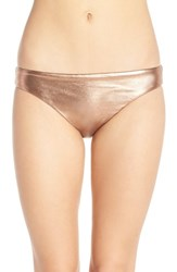 Luxe By Lisa Vogel Women's Luxe 'Premier' Metallic Bikini Bottoms