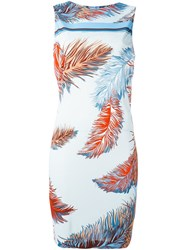 Emilio Pucci Feather Print Dress Multicolour