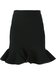 David Koma Trim Peplum Skirt Black