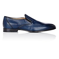 Barneys New York Men's Venetian Loafers Navy