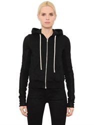 Rick Owens Leather And Cotton Jersey Sweatshirt