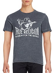 True Religion Burnout Crewneck Shirt Black