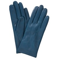 John Lewis Fleece Lined Leather Gloves Teal