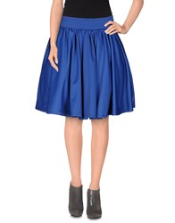 Odi Et Amo Skirts Knee Length Skirts Women Bright Blue