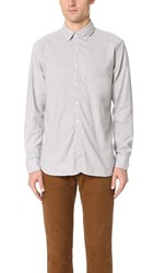 Billy Reid Brushed Twill Shirt Light Grey