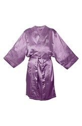 Women's Cathy's Concepts Satin Robe Purple B