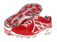 New Balance Mb2000 Tpu Molded Low Cut Cleat Red White Men's Cleated Shoes