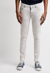 Forever 21 Faded Skinny Jeans White
