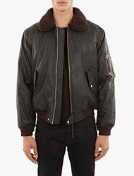 Our Legacy Black Coated Cotton Flight Jacket