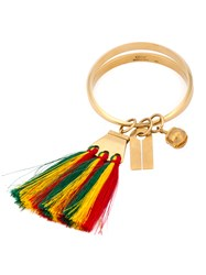 Chloe Janis Tassel Bangle Multi Coloured Green Yellow