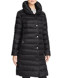 Basler Padded Collar Long Down Coat Black