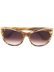 Thierry Lasry Round Frame Sunglasses Yellow And Orange