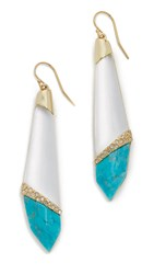 Alexis Bittar Crystal Encrusted Elongated Earrings Silver
