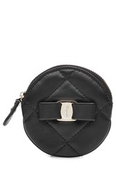 Salvatore Ferragamo Leather Coin Purse Black