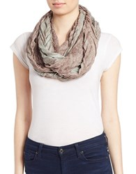 Collection 18 Paisley And Glitter Infinity Loop Scarf Taupe