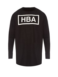 Hood By Air Logo Print Long Sleeved Cotton Poplin Top
