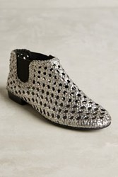 Anthropologie Elodie Bruno Baby Jane Booties Silver 36 Euro Boots