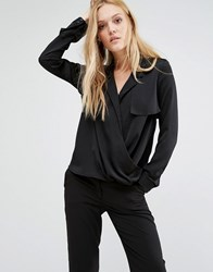 Y.A.S Faber Washed Silk Shirt Black