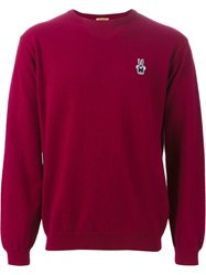 Peter Jensen Bunny Patch Sweater Red