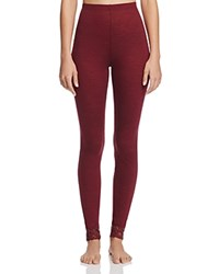 Hanro Chiara Leggings Red Plum