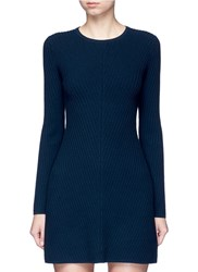 Theory 'Ardesia' Rib Knit Swing Dress Blue Blue