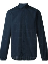 Oamc Perforated Shirt Blue