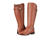 Naturalizer Joan Wide Calf Banana Bread Leather Women's Wide Shaft Boots Brown