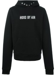 Hood By Air Oversized Sleeves Hooded Sweatshirt Black