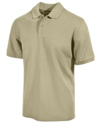 Club Room Short Sleeve Solid Estate Performance Sun Protection Polo Serene Beige