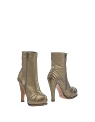 Michel Perry Ankle Boots Gold