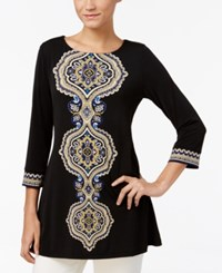 Jm Collection Studded Printed Tunic Only At Macy's Lemon Tile