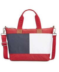 Tommy Hilfiger Colorblock Flag Nylon Shopper Tommy Red