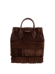 Burberry Carryhall Suede Fringed Tote Bag