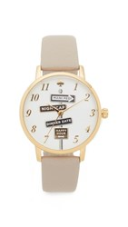 Kate Spade Metro Watch Gold Grey